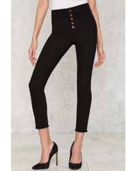 Nasty Gal | High-rise Wide Shut Skinny Jeans | Lyst