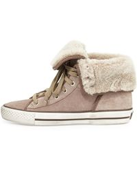 Ash Vanna Fold-over High-top Sneaker - Lyst