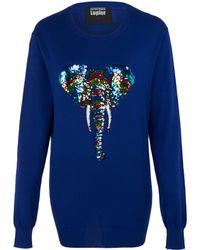 Markus Lupfer 'Rainbow Zebra' Sequin Joey Sweater - Lyst
