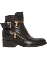 Strategia 80Mm Zipped Calf Leather Ankle Boots - Lyst