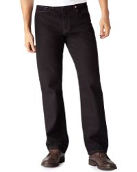 Levi's Big And Tall 550 Relaxed-Fit Black Jeans - Lyst