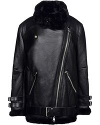 Acne Studios Black Leather Outerwear - Lyst