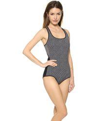 VPL - Glide One Piece Swimsuit Porous Print Black - Lyst