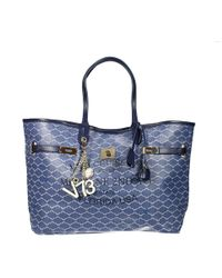 V73 - Handbag Miami Coated Canvas Big Shopping Bag - Lyst