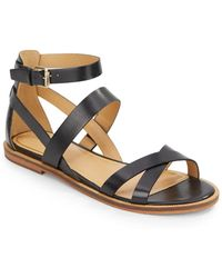 Enzo Angiolini Jeat Leather Sandals - Lyst