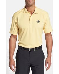 Cutter & buck Men's Short-sleeve New Orleans Saints Polo in Gold ...