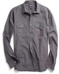 Todd Snyder | Utility Shirt In Charcoal | Lyst