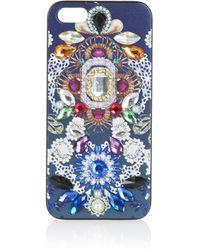 Topshop Digital Gem Iphone 5 Case - Black - Lyst