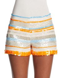 Parker January Sequined Silk Shorts - Lyst