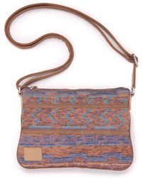 TOMS - Denim Ikat Mix Promenade Crossbody - Lyst
