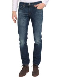 Levi's Mid Washed Selvedge Slim Fit 511 Jeans - Lyst