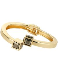 Topshop Womens Cube End Bracelet - Black - Lyst