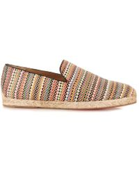 Christian Louboutin Relax Woven-Leather Espadrilles - Lyst