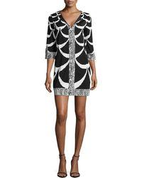 Diane Von Furstenberg Rose Printed Caftan Dress - Lyst