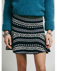 Free People Ski Slope Mini Skirt - Lyst
