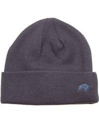 Raging Bull | Plain Knit Hat - Navy | Lyst