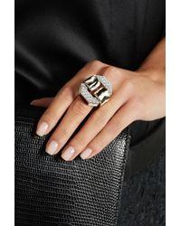 David Webb   Buckle 18-Karat Gold, Enamel And Diamond Ring   Lyst