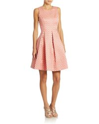 Eliza J Pleated Fit And Flare Dress - Lyst
