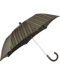 Barneys New York Mixedstripe Folding Umbrella - Lyst