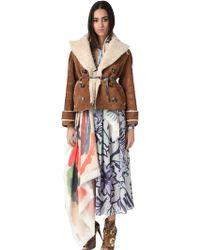 Burberry Prorsum Shearling Short Jacket - Lyst
