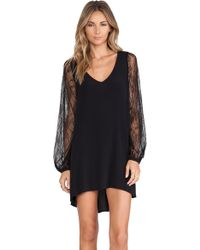 Lovers + Friends Black Gracie Dress - Lyst