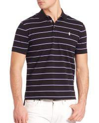 Polo Ralph Lauren   Striped Stretch-mesh Polo Shirt   Lyst