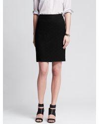 Banana Republic Geo Lace Pencil Skirt - Lyst