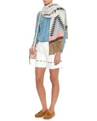 Queene And Belle - Navajo-Intarsia Cashmere Scarf - Lyst