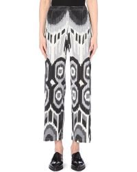 Pleats Please Issey Miyake Wide-Leg Printed Trousers - For Women - Lyst