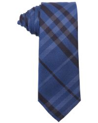 Burberry London Cerulean Blue Nova Check Print Silk 'Rohan' Tie - Lyst