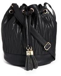 Asos Patchwork Duffle Shoulder Bag - Lyst