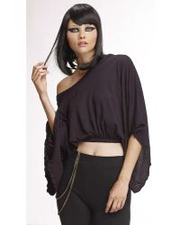Mark And Estel Crop Wing Sleeve black - Lyst
