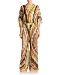 Emilio Pucci Geometric-patterned Silk Jumpsuit - Lyst