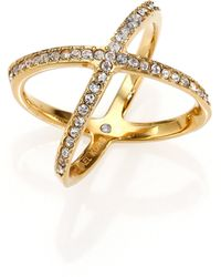 Michael Kors Brilliance Statement PavÉ Midi X Ring gold - Lyst
