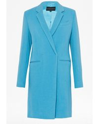 French connection Imperial Wool Classic Coat - Lyst