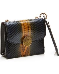 Marc Jacobs Mini Trouble Bag In Navy And Amber Python - Lyst