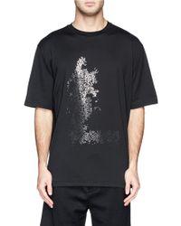 Lanvin Metallic Crack Print T-Shirt - Lyst