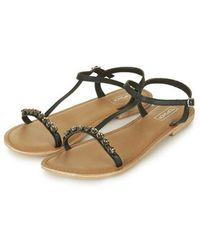 Topshop Hee Jewelled Sandals - Lyst