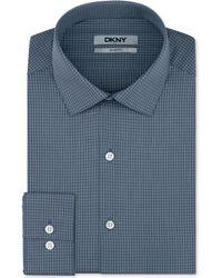 DKNY Slim-fit Charcoal Stripe Dress Shirt - Lyst