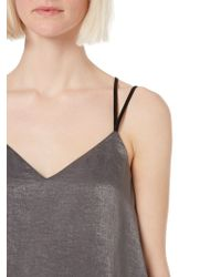 Label Lab | Hammered Satin Strappy Jumpsuit | Lyst