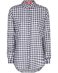 Mango Oversize Striped Shirt - Lyst