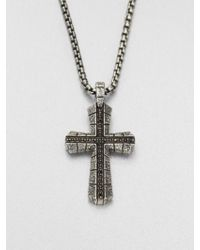 Stephen Webster - Sterling Silver Cross Pendant Necklace - Lyst