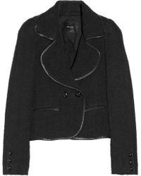 Isabel Marant Aleq Leathertrimmed Tweed Jacket - Lyst