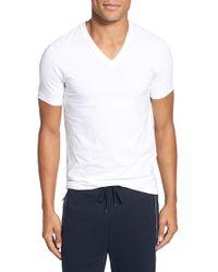 BOSS | V-Neck Stretch-Cotton T-Shirt | Lyst