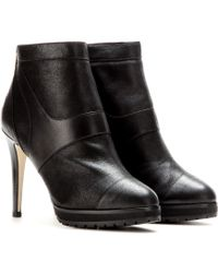 Jimmy Choo Druce Leather Platform Ankle Boots - Lyst