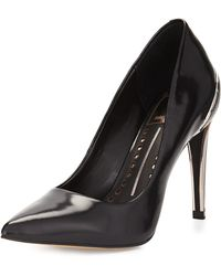 Dolce Vita Karisse Contrast Textured Point-toe Pump - Lyst