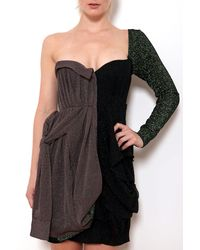 Coven - One Shoulder Bustier Dress - Lyst