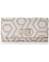 Nine West Grey & Khaki Hexagram Checkbook Wallet - Lyst