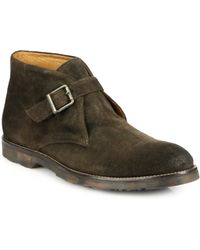 To Boot Raphael Suede Monk-Strap Chukka Boots - Lyst
