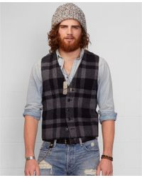 Denim & Supply Ralph Lauren Buffalo Plaid Vest - Lyst
